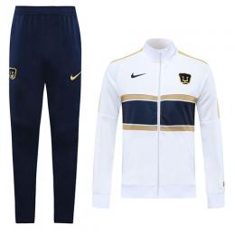 20/21 UNAM Pumas White Player Version Training Kit(Jacket+Trouser)