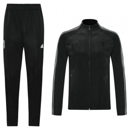 20/21 Juventus Black High Neck Collar Training Kit(Jacket+Trouser)