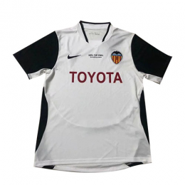 03/04 Valencia Home White Retro Jerseys Shirt