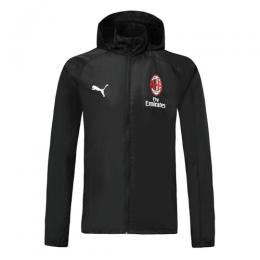 19/20 AC Milan Black Windbreaker Hoodie Jacket