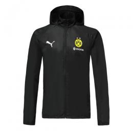 19/20 Borussia Dortmund Black Windbreaker Hoodie Jacket