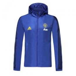 19/20 Manchester United Blue Windbreaker Hoodie Jacket