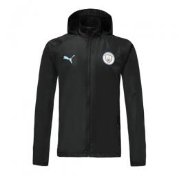 19/20 Manchester City Black Windbreaker Hoodie Jacket