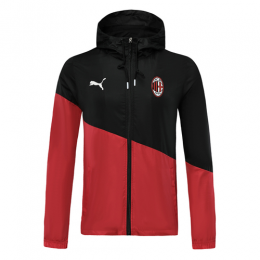 19/20 AC Milan Red&Black Windbreaker Hoodie Jacket