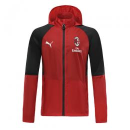 19/20 AC Milan Red Hoodie Windbreaker Hoodie Jacket