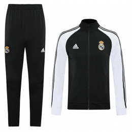 20/21 Real Madrid Black High Neck Collar Training Kit(Jacket+Trouser)