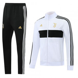 20/21 Juventus White High Neck Player Version Training Kit(Jacket+Trouser)