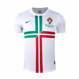 2012 Portugal Away White Retro Jerseys Shirt