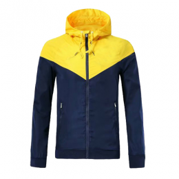 Customize Team Yellow Windbreaker Hoodie Jacket