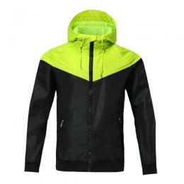 Customize Team Green Windbreaker Hoodie Jacket