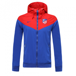 19-20 Atletico Madrid Blue Windbreaker Hoodie Jacket