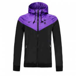 19-20 Tottenham Hotspur Black&Purple Windbreaker Hoodie Jacket