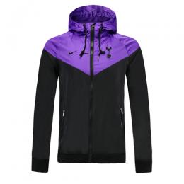 19-20 Tottenham Hotspur Black&Purple Windbreaker Hoodie Jacket