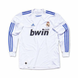 10/11 Real Madrid Home White Long Sleeve Retro Jerseys Shirt