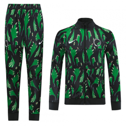 2020 World Cup Nigeria Black&Green Training Kit(Jacket+Trouser)