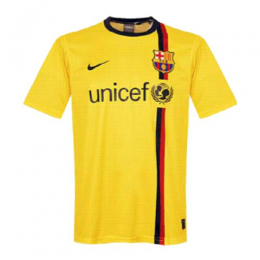 08/09 Barcelona Away Yellow Retro Soccer Jerseys Shirt
