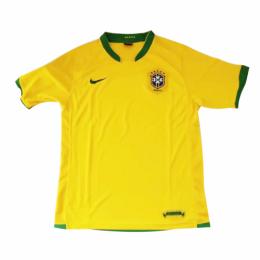 2006 Brazil Home Yellow Retro Jerseys Shirt