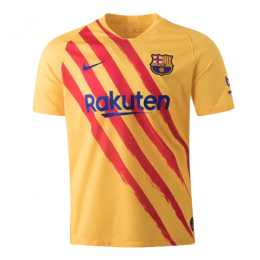 19/20 Barcelona Fourth Senyera Yellow Soccer Jerseys Shirt(Player Version)