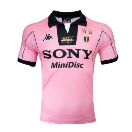 97-98 Juventus Away Pink Soccer Retro Jerseys Shirt
