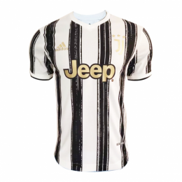 20/21 Juventus Home Black&White Soccer Jerseys Shirt(Player Version)