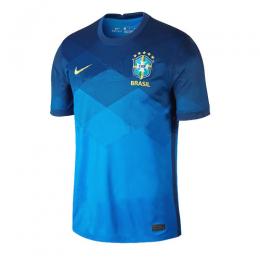 2020 Brazil Away Blue Soccer Jerseys Shirt