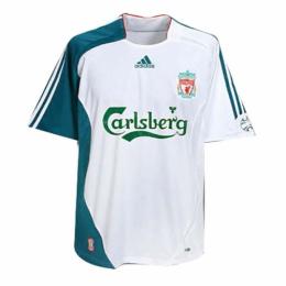 06/07 Liverpool Third Away White Retro Soccer Jerseys Shirt