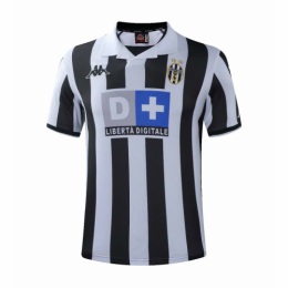 99/00 Juventus Home Black&White Soccer Retro Jerseys Shirt