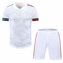Mexico Style Customize Team White Soccer Jerseys Kit(Shirt+Short)