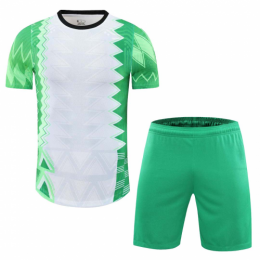 Nigeria Style Customize Team Green&White Soccer Jerseys Kit(Shirt+Short)