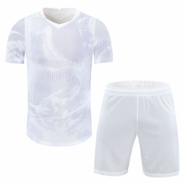 China Style Customize Team White Soccer Jerseys Kit(Shirt+Short)
