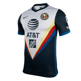 20/21 Club America Away Black&White Soccer Jerseys Shirt(Player Version)