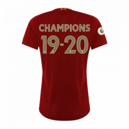 "19/20 Liverpool Home ""CHAMPIONS 19-20"" Women Jerseys Shirt"