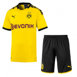 19-20 Borussia Dortmund Home Yellow Soccer Jerseys Kit(Shirt+Short)