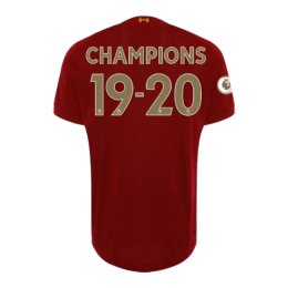 "19/20 Liverpool Home ""CHAMPIONS 19-20"" Soccer Jerseys Shirt"