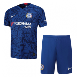 19/20 Chelsea Home Blue Soccer Jerseys Kit(Shirt+Short)
