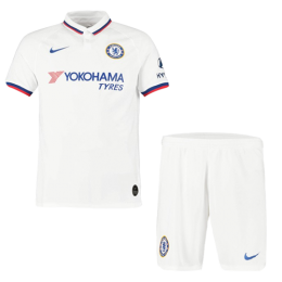 19/20 Chelsea Away White Soccer Jerseys Kit(Shirt+Short)