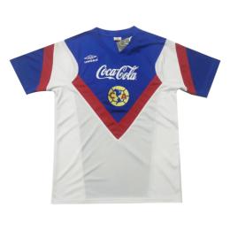 1988 Club America Away Blue&Whirt Retro Jerseys Shirt