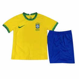 2020 Brazil Home Yellow Children's Jerseys Kit(Shirt+Short)