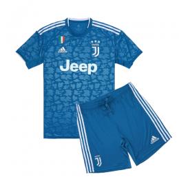 19-20 Juventus Third Away Blue Children's Jerseys Kit(Shirt+Short)