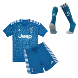 19-20 Juventus Third Away Blue Children's Jerseys Kit(Shirt+Short+Socks)