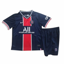 20/21 PSG Home Navy&Red Children's Jerseys Kit(Shirt+Short)