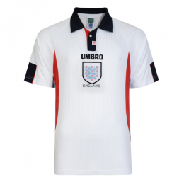 1998 World Cup England Home White Retro Jerseys Shirt