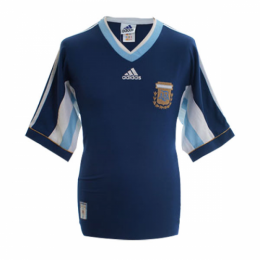 1998 World Cup Argentina Away Navy Retro Soccer Jerseys Shirt