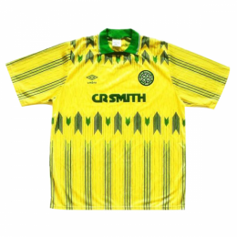 91/92 Celtic Away Yellow Retro Soccer Jerseys Shirt