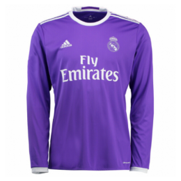 16/17 Real Madrid Away Purple Long Sleeve Retro Jerseys Shirt