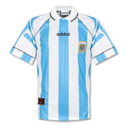 1996 Argentina Home Blue&White Retro Soccer Jerseys Shirt