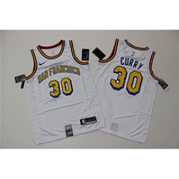 Men's Golden State Warriors Stephen Curry No.30 White 19-20 Swingman Jersey - City Edition