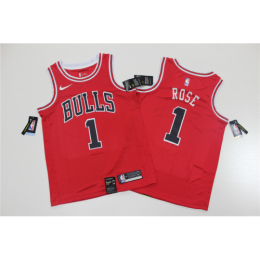 Men's Chicago Bulls Rose Derrick No.1 Red Replica Swingman Jersey - Icon Edition