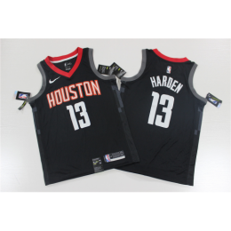 Men's Houston Rockets James Harden No.13 Black Swingman Player Jersey - Statement Edition