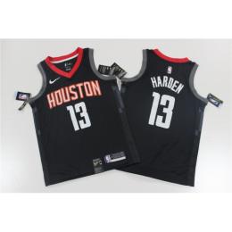 Men's Houston Rockets James Harden No.13 Black Swingman Player Jersey - Statement Edition